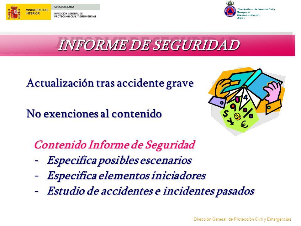INFORME DE SEGURIDAD Actualización tras accidente grave