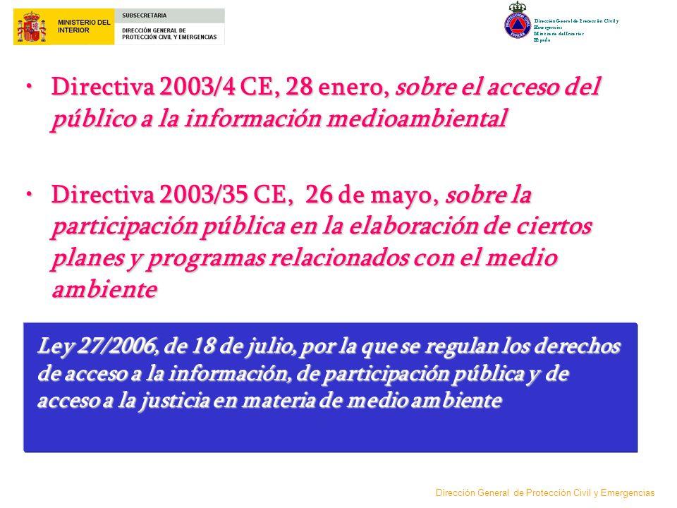 Directiva 2003/4 CE, 28 enero, sobre el acceso del público a la información medioambiental