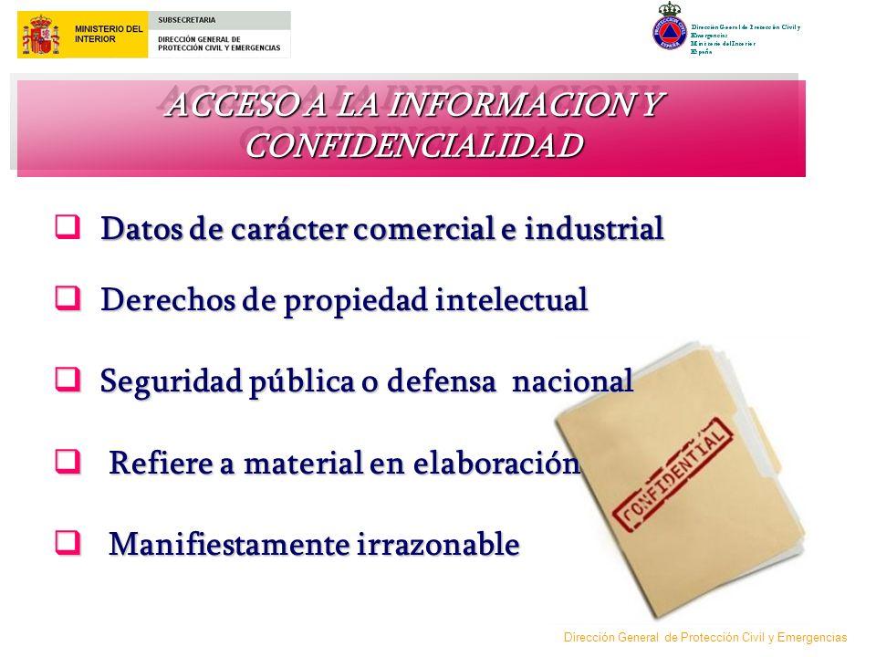 ACCESO A LA INFORMACION Y CONFIDENCIALIDAD