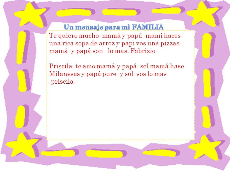 Un mensaje para mi FAMILIA