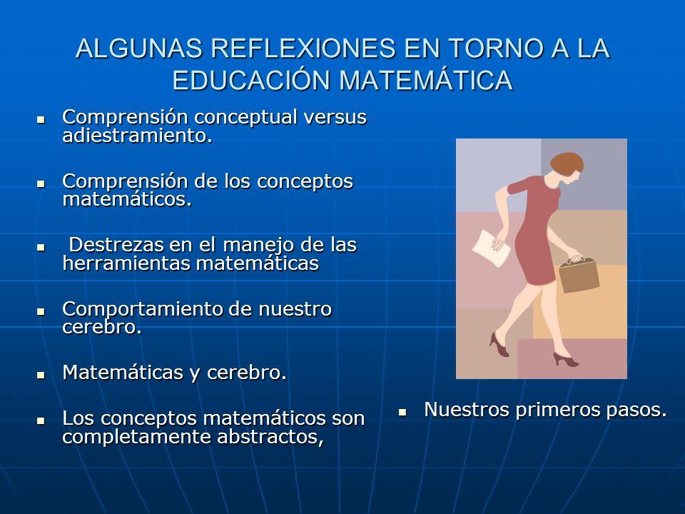 ALGUNAS REFLEXIONES EN TORNO A LA EDUCACIÓN MATEMÁTICA