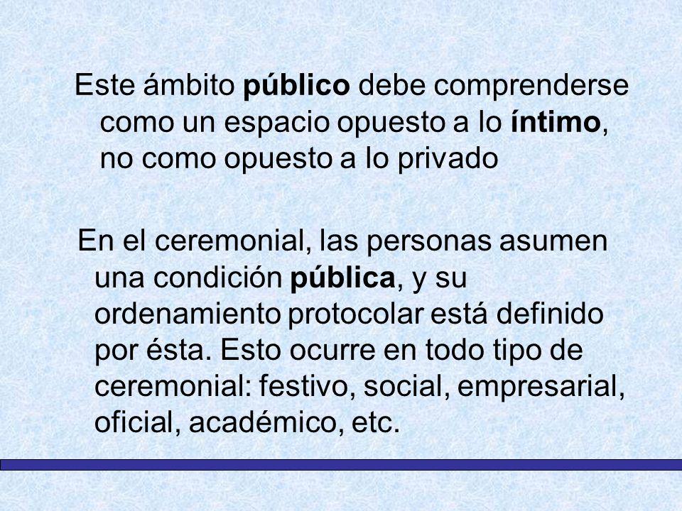 Este ámbito público debe comprenderse como un espacio opuesto a lo íntimo, no como opuesto a lo privado