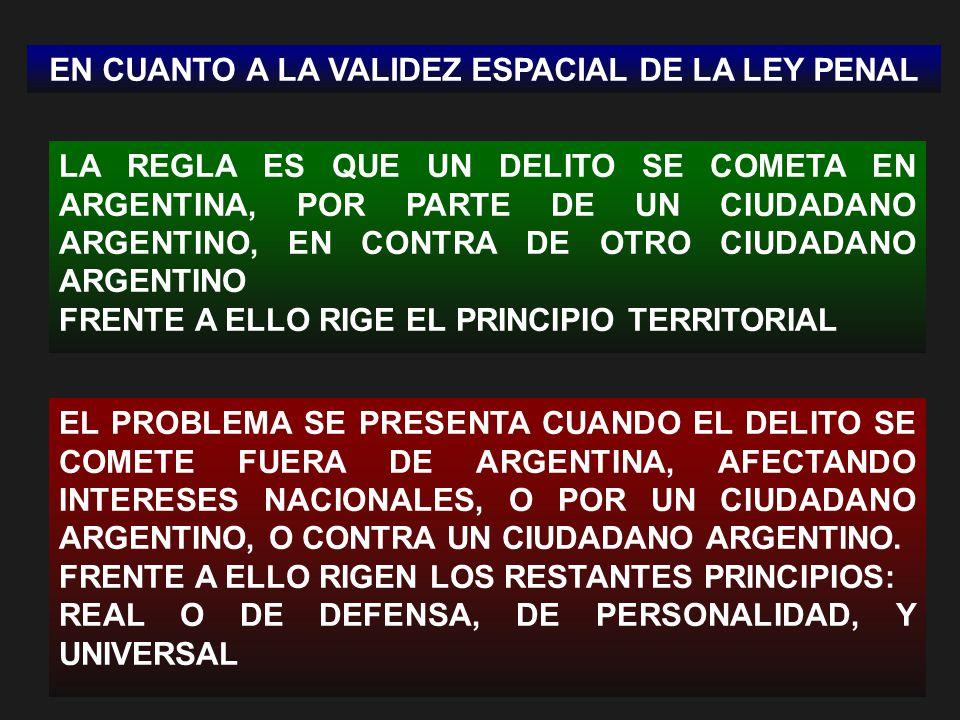 EN CUANTO A LA VALIDEZ ESPACIAL DE LA LEY PENAL
