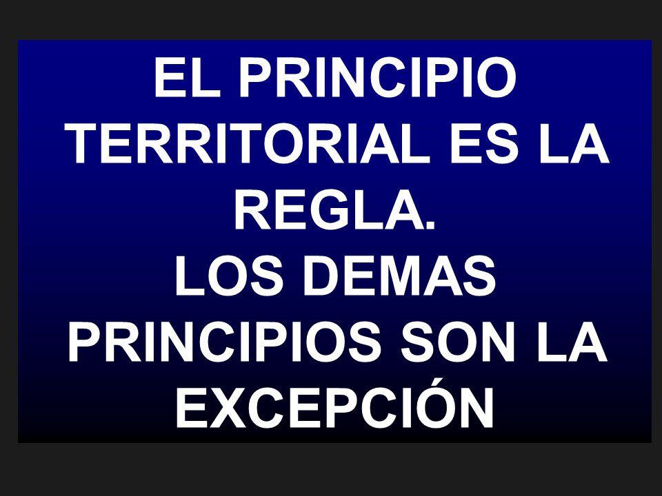 EL PRINCIPIO TERRITORIAL ES LA REGLA.