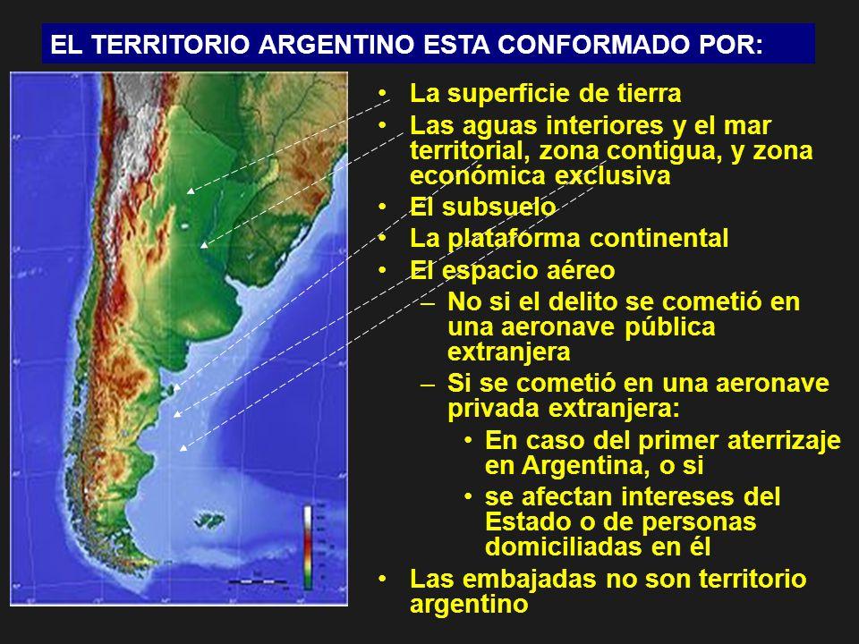 EL TERRITORIO ARGENTINO ESTA CONFORMADO POR: