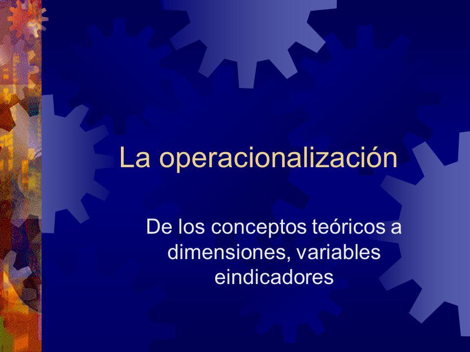 La operacionalización