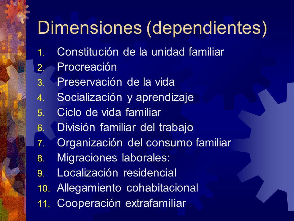 Dimensiones (dependientes)