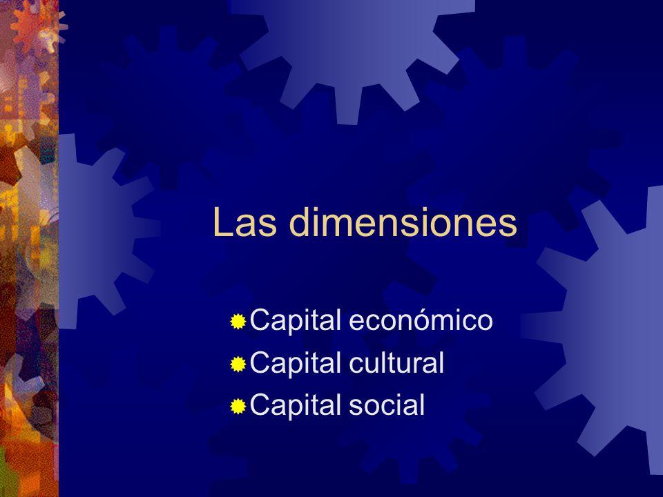 Capital económico Capital cultural Capital social
