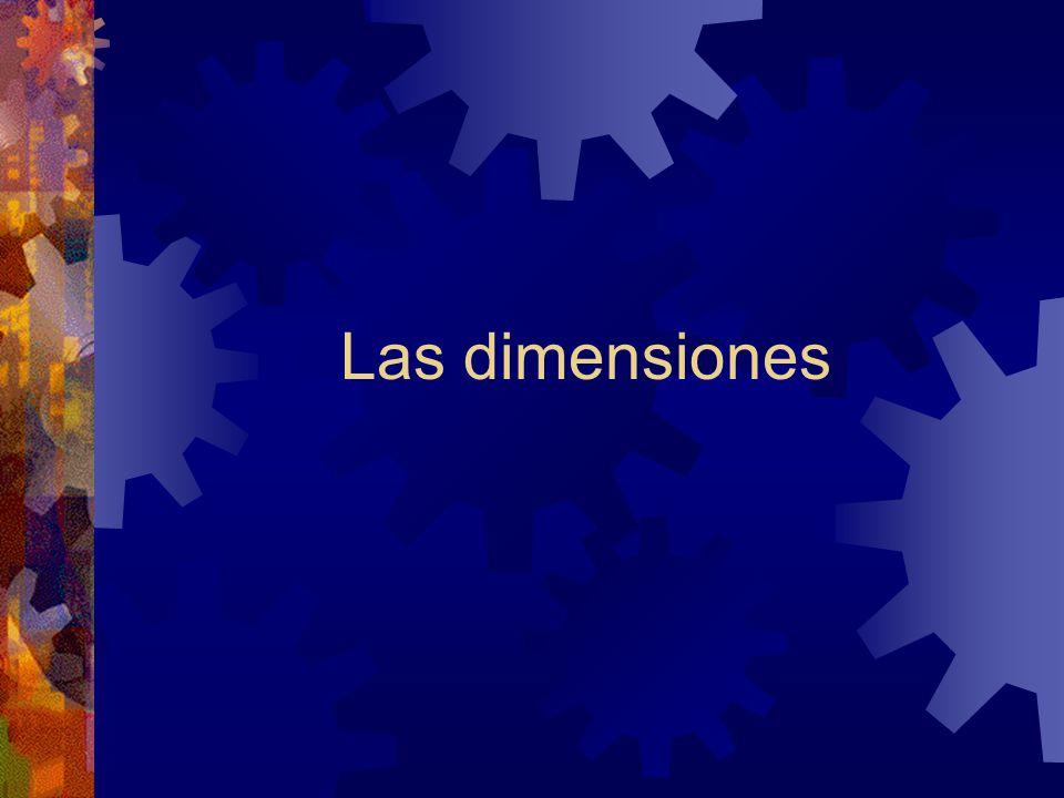 Las dimensiones