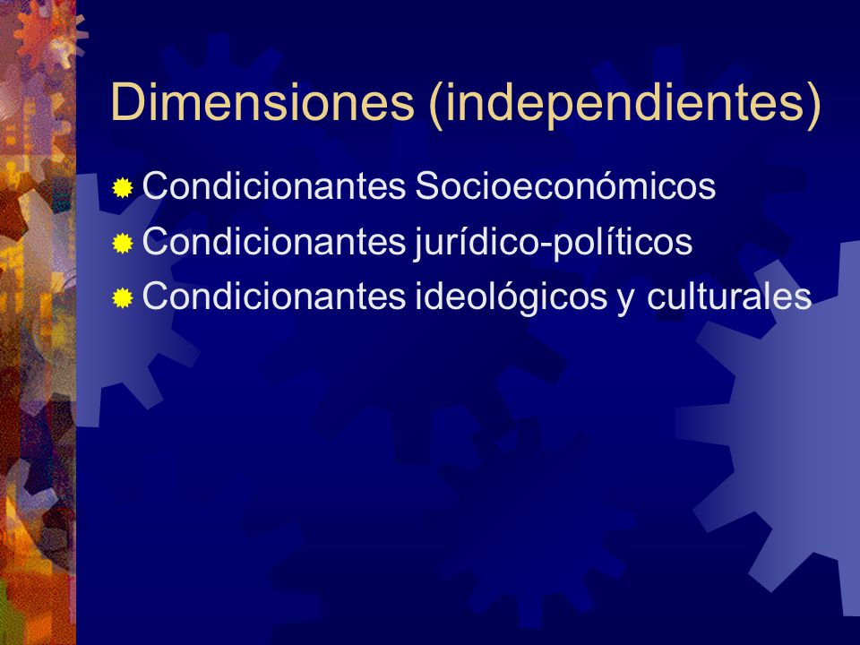 Dimensiones (independientes)