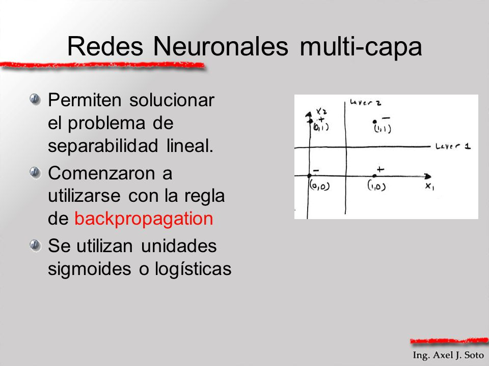 Redes Neuronales multi-capa