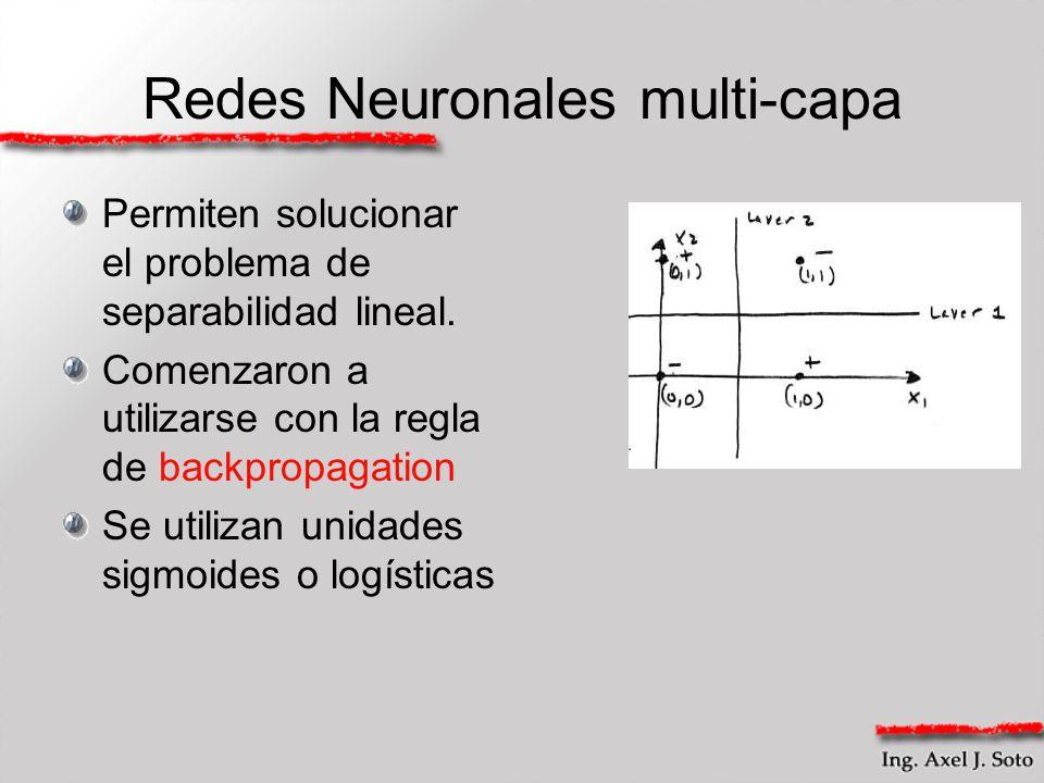 Redes Neuronales multi-capa
