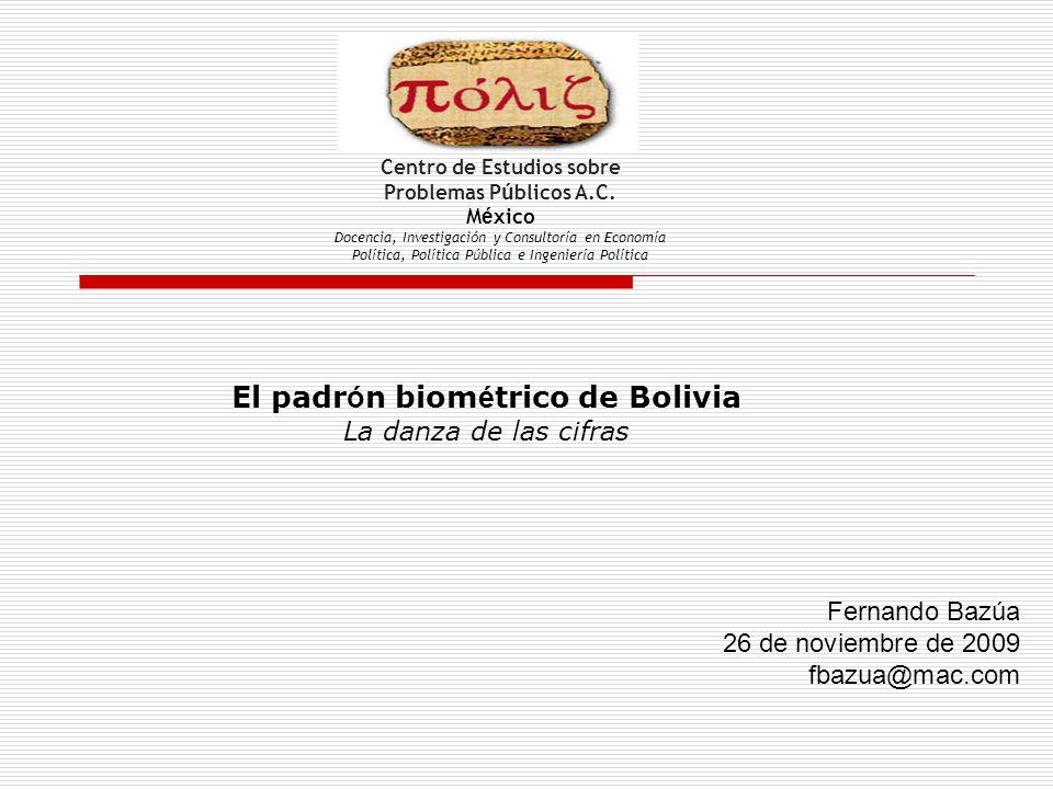 El padrón biométrico de Bolivia