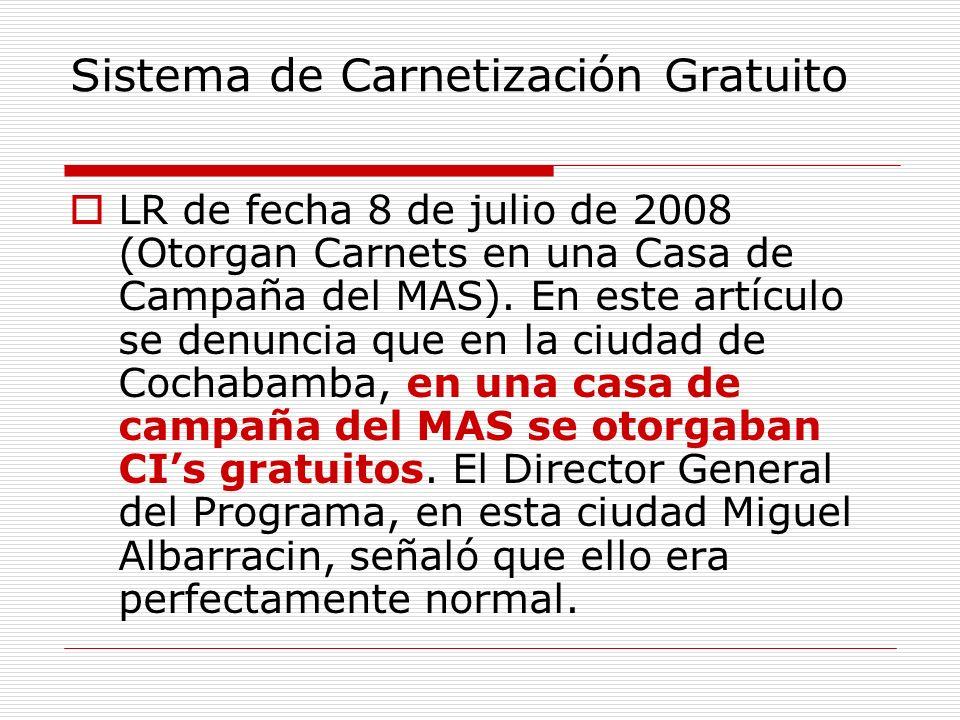 Sistema de Carnetización Gratuito