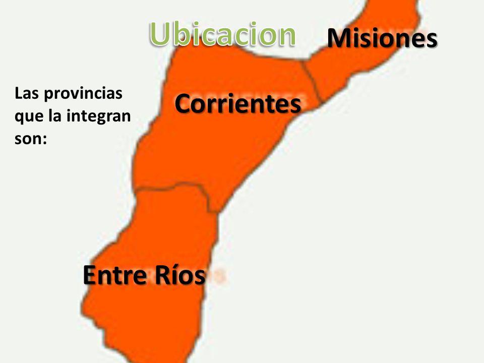 Ubicacion Misiones Corrientes Entre Ríos