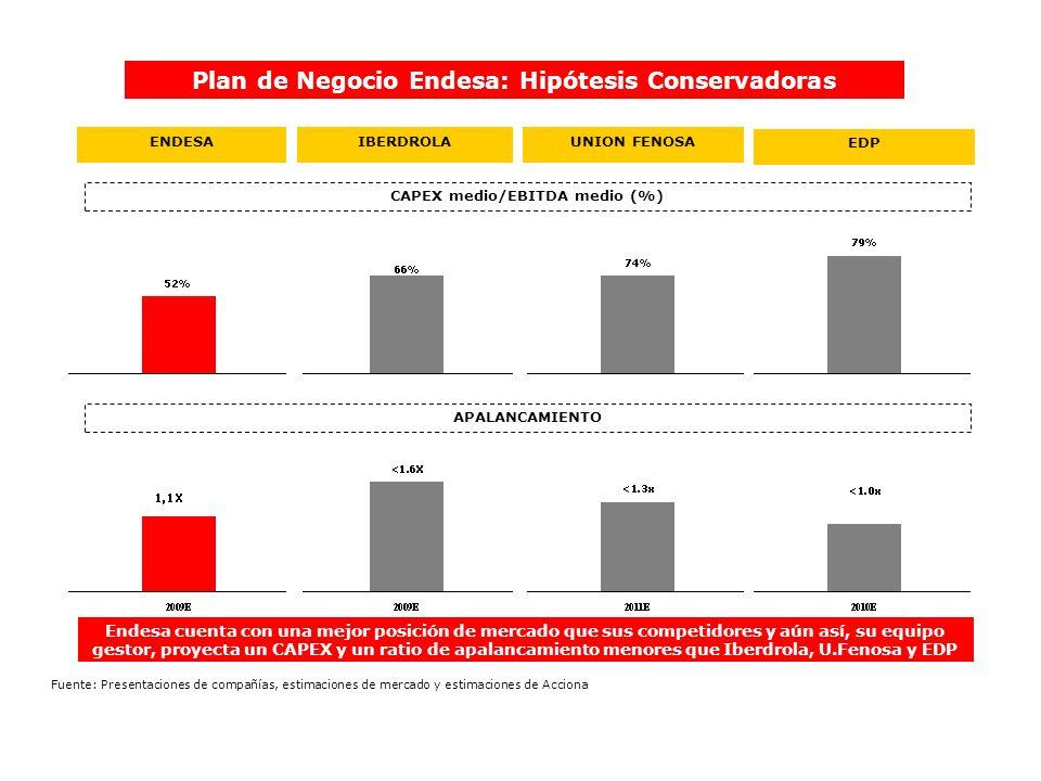 Plan de Negocio Endesa: Hipótesis Conservadoras