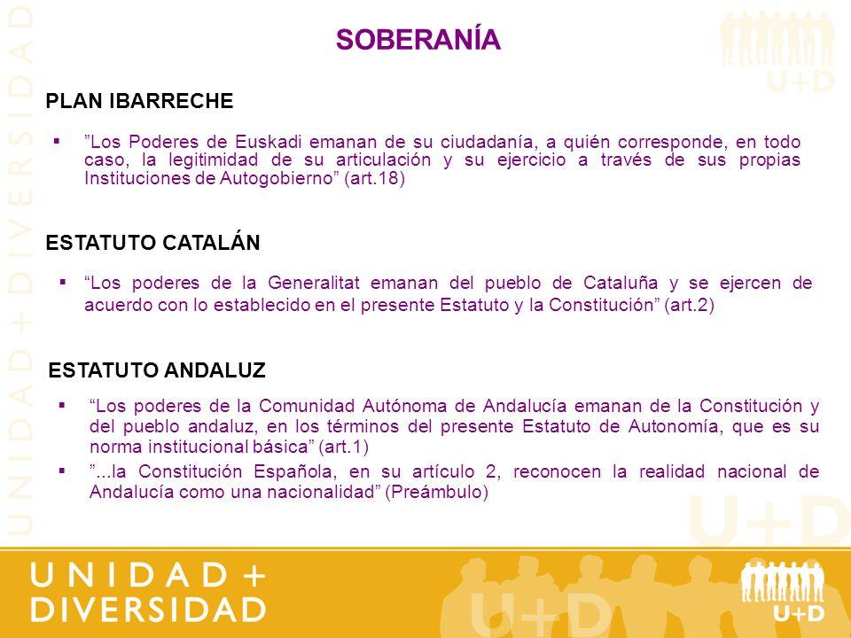 SOBERANÍA PLAN IBARRECHE ESTATUTO CATALÁN ESTATUTO ANDALUZ