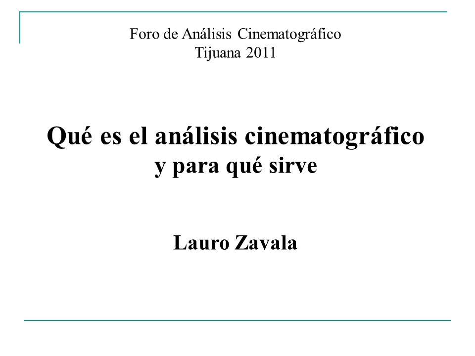 Qué es el análisis cinematográfico