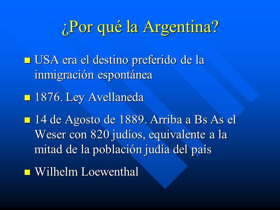¿Por qué la Argentina USA era el destino preferido de la inmigración espontánea. 1876. Ley Avellaneda.