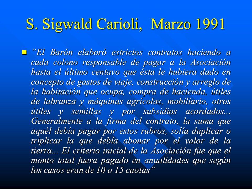 S. Sigwald Carioli, Marzo 1991