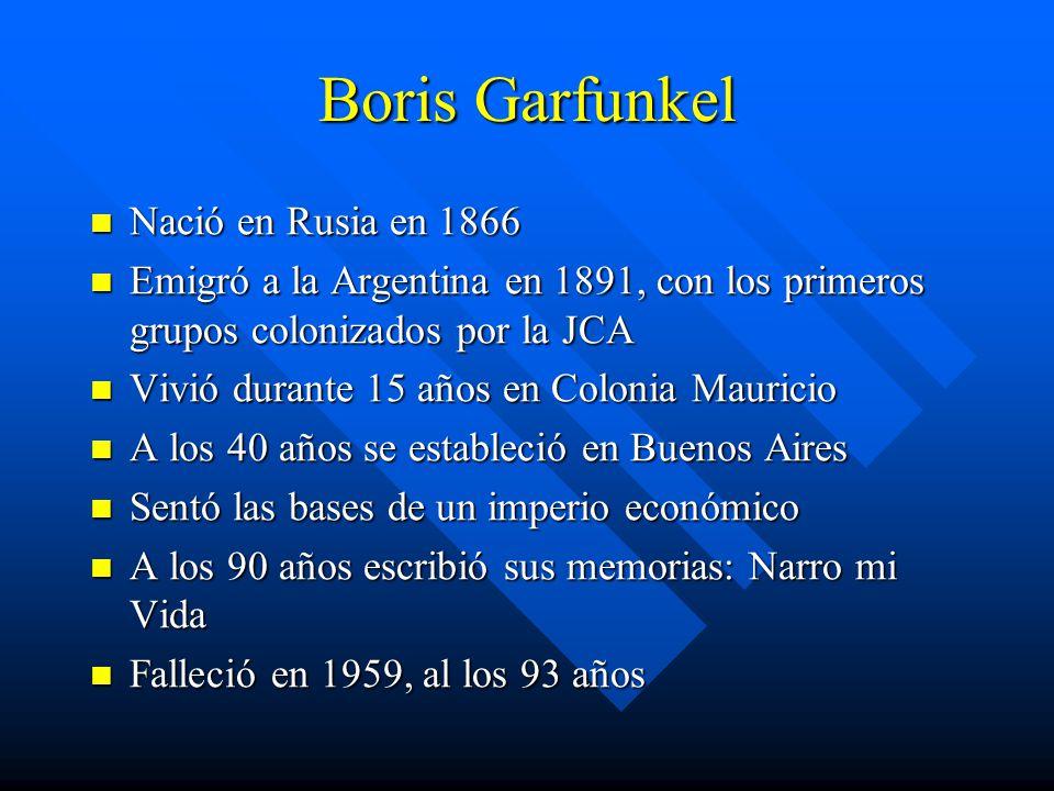 Boris Garfunkel Nació en Rusia en 1866