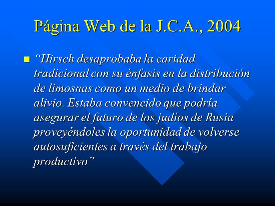 Página Web de la J.C.A., 2004