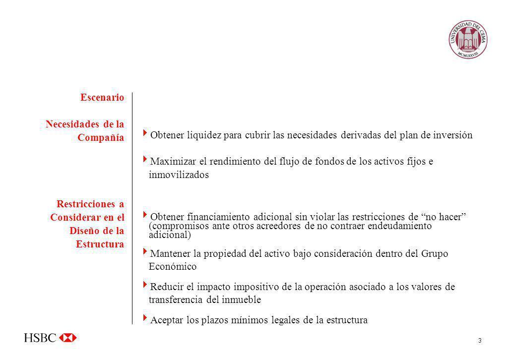 Escenario Necesidades de la Compañía. Restricciones a Considerar en el Diseño de la Estructura.
