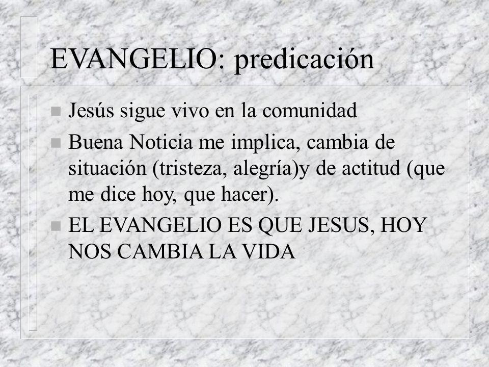 EVANGELIO: predicación