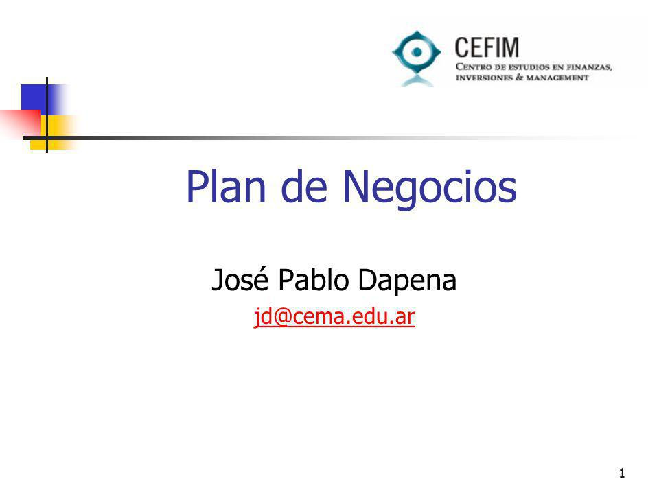 José Pablo Dapena jd@cema.edu.ar