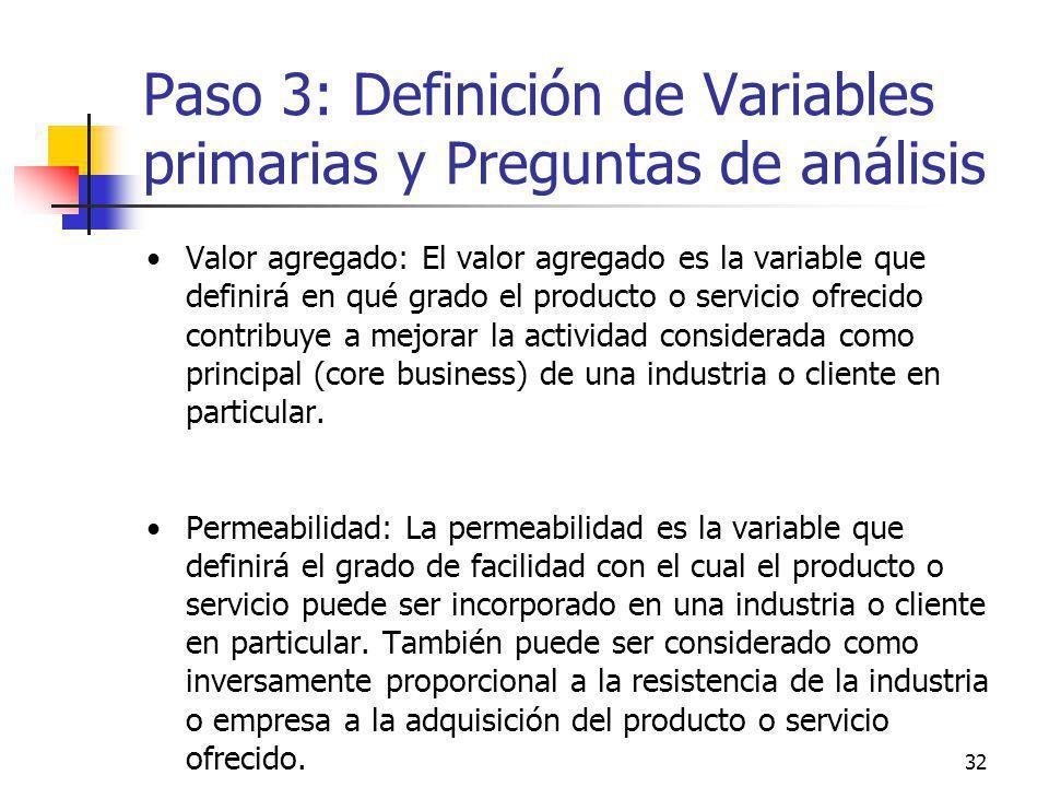 Paso 3: Definición de Variables primarias y Preguntas de análisis