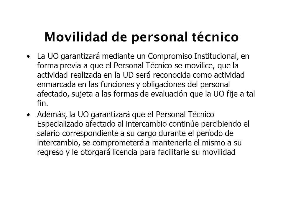 Movilidad de personal técnico