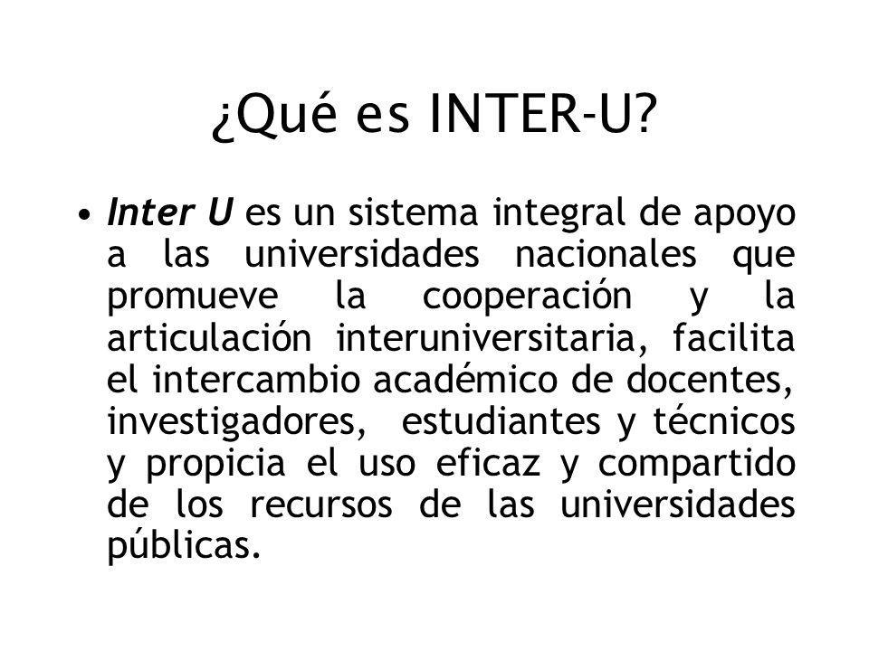 ¿Qué es INTER-U