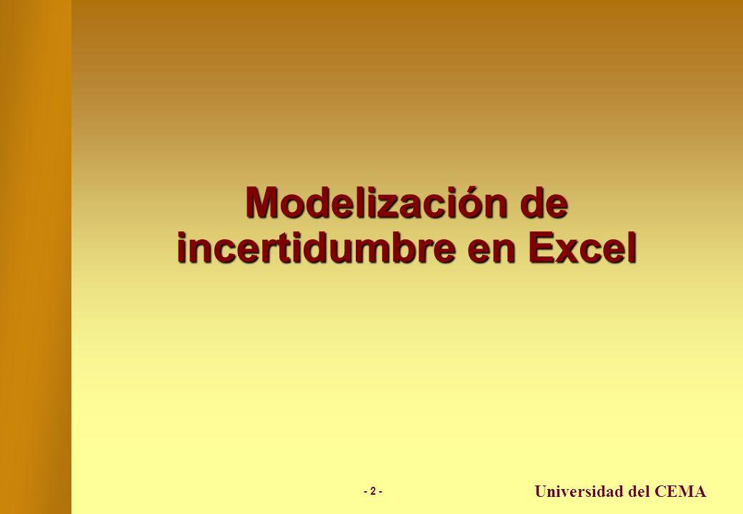 Modelización de incertidumbre en Excel