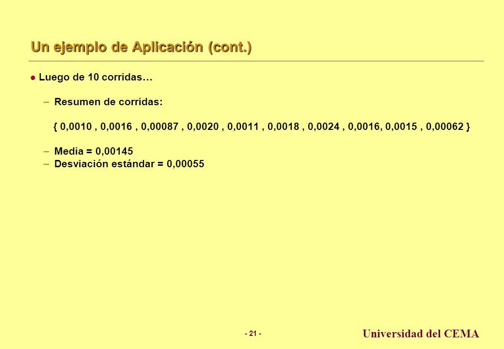Un ejemplo de Aplicación (cont.)