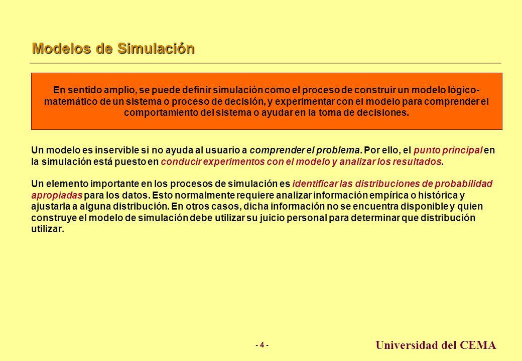 Modelos de Simulación Universidad del CEMA