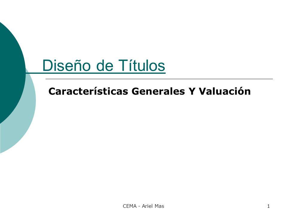 Características Generales Y Valuación