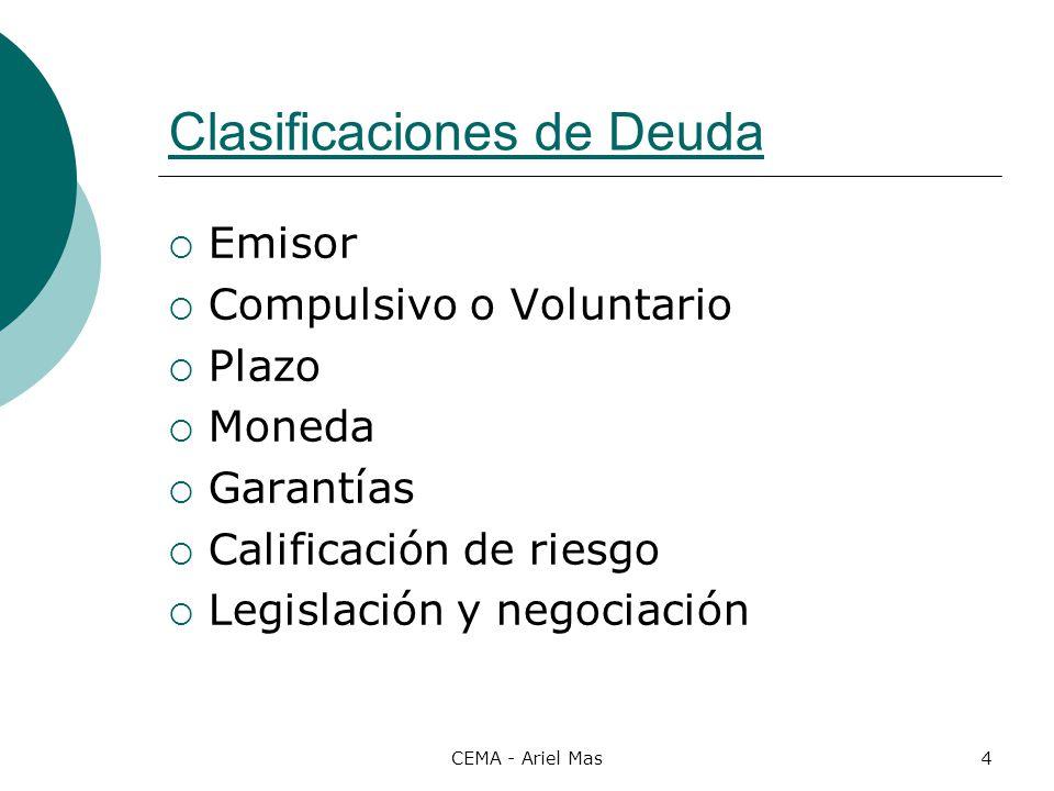 Clasificaciones de Deuda