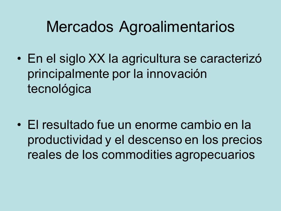 Mercados Agroalimentarios
