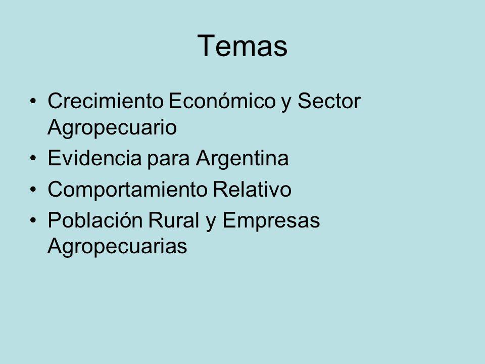 Temas Crecimiento Económico y Sector Agropecuario