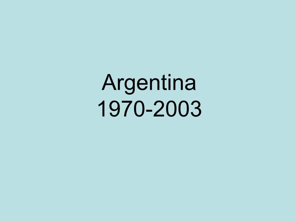 Argentina 1970-2003