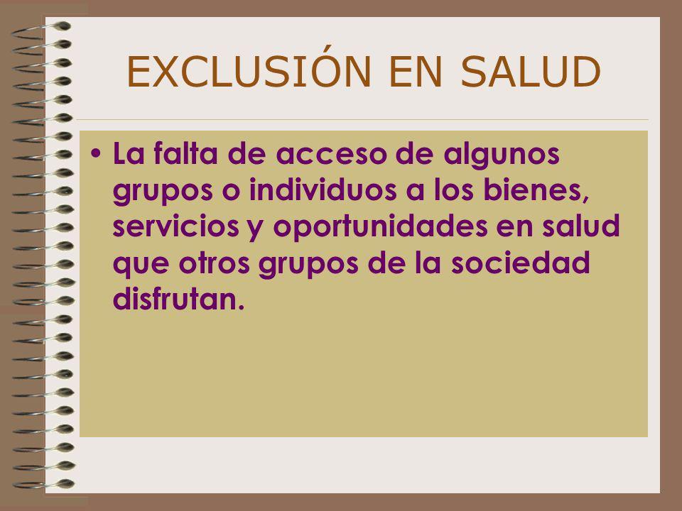 EXCLUSIÓN EN SALUD