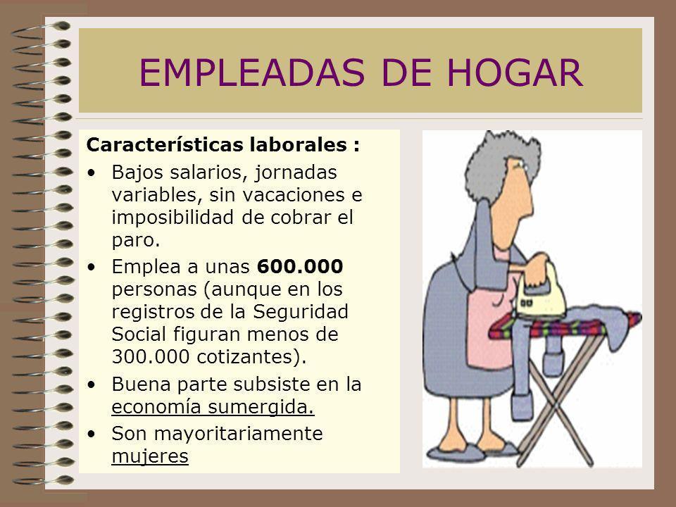 EMPLEADAS DE HOGAR Características laborales :