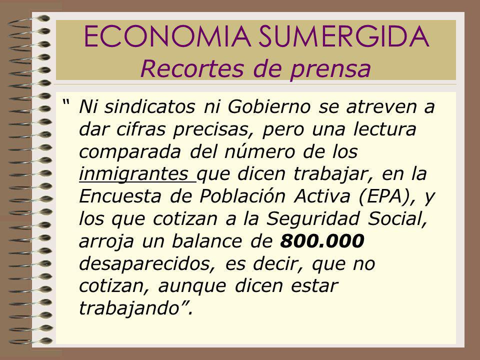 ECONOMIA SUMERGIDA Recortes de prensa
