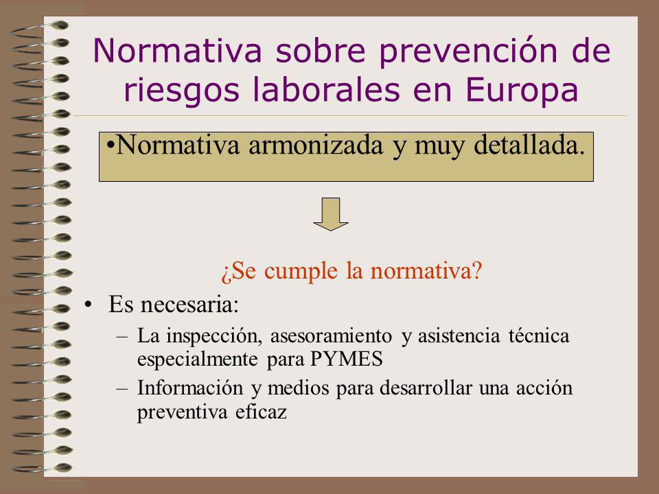 Normativa sobre prevención de riesgos laborales en Europa