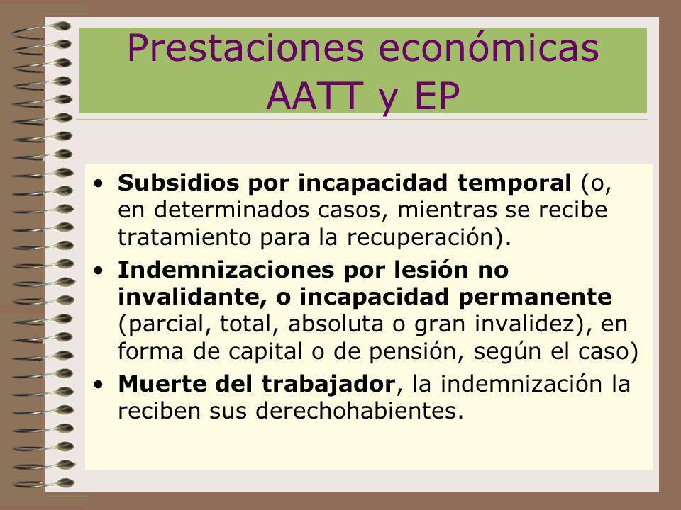 Prestaciones económicas AATT y EP