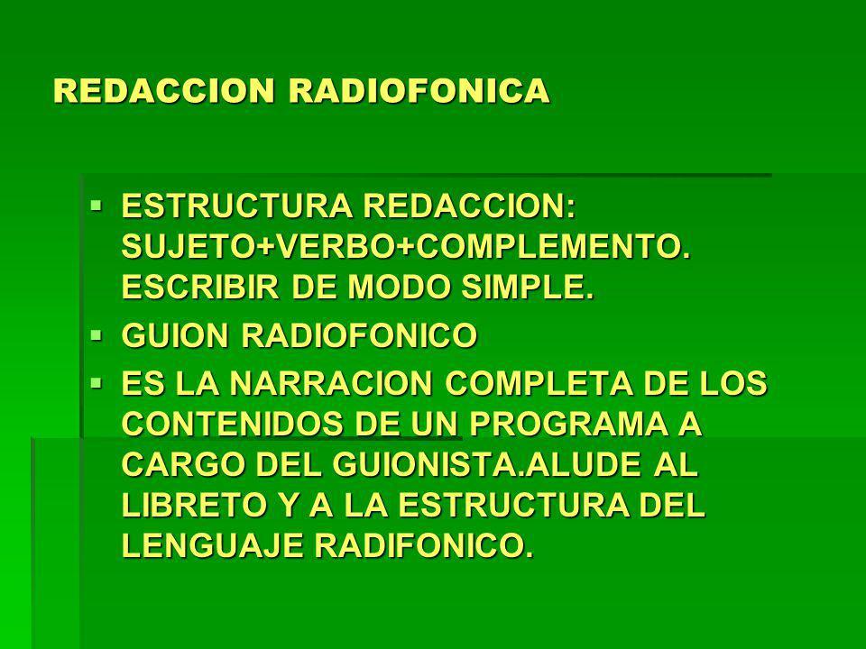 REDACCION RADIOFONICA