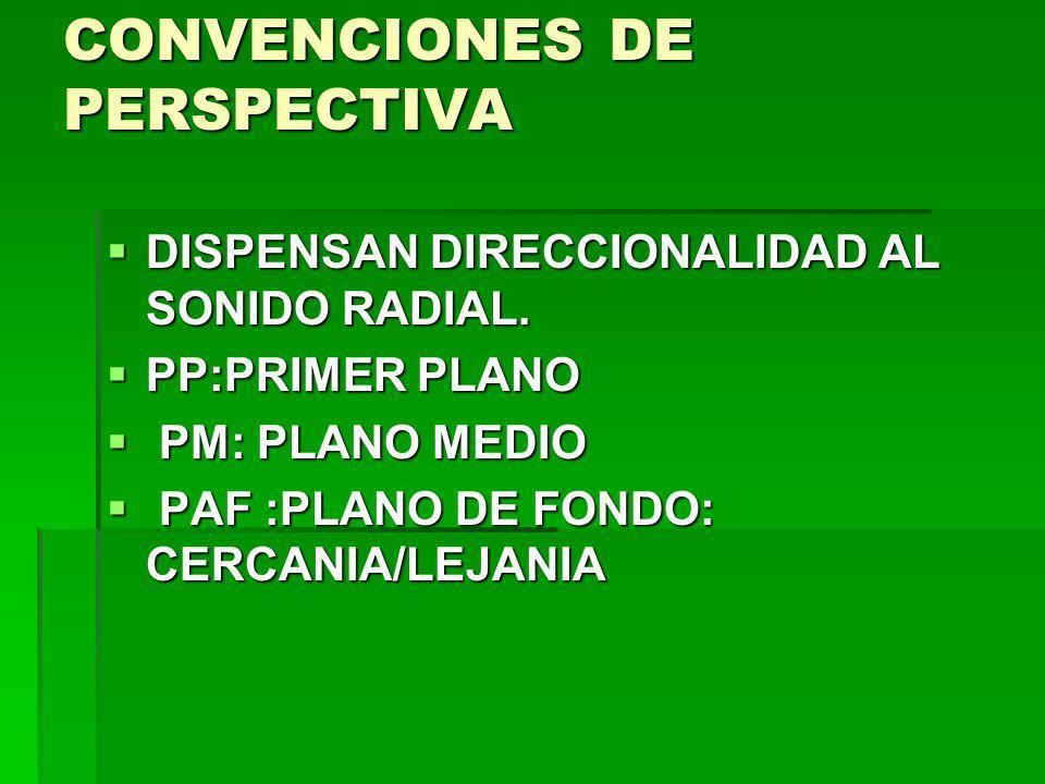 CONVENCIONES DE PERSPECTIVA