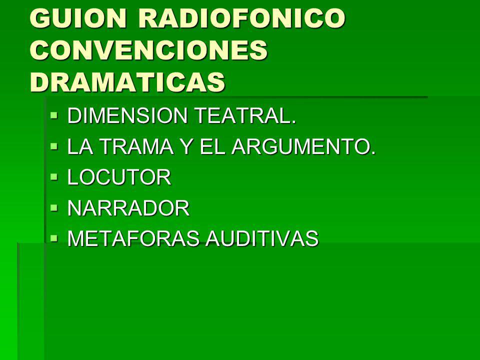GUION RADIOFONICO CONVENCIONES DRAMATICAS