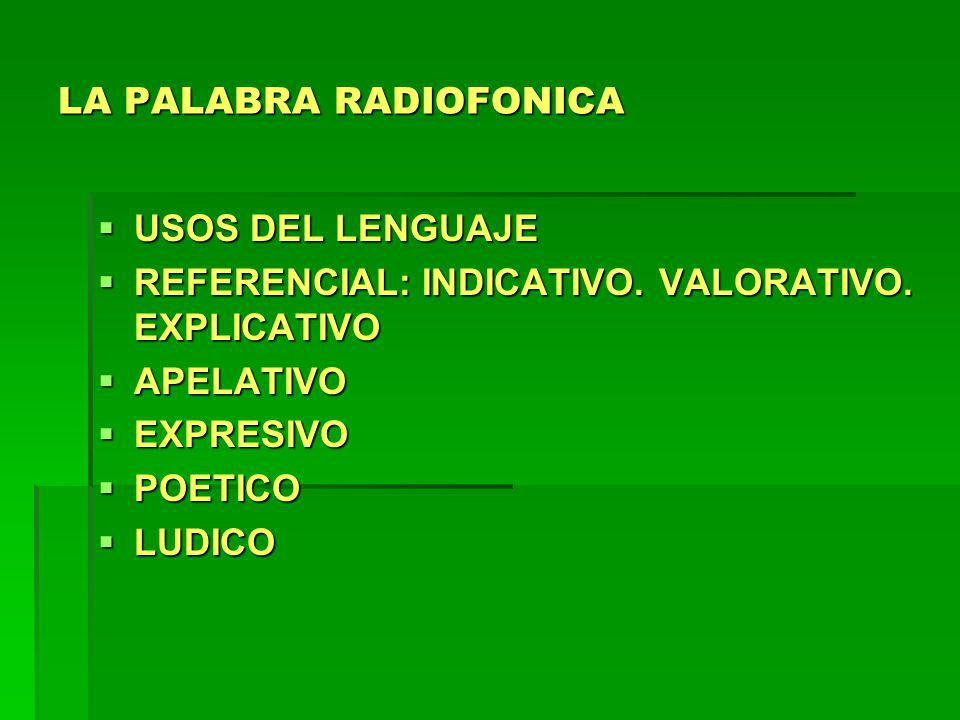 LA PALABRA RADIOFONICA