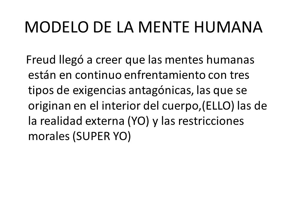 MODELO DE LA MENTE HUMANA